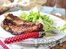 Рецепта Мариновани свински ребърца в AirFryer